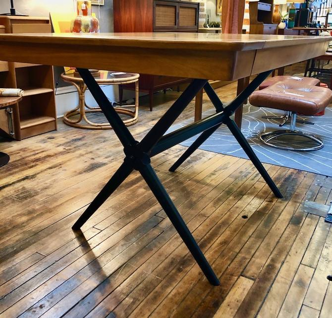 Vintage X-Base Dining Table in the style of Robsjohn Gibbings
