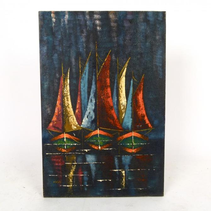 Sailboats Oil on Canvas