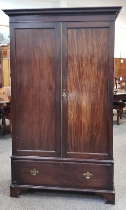 Item #S50 Mahogany Double Door Armoire c.1920