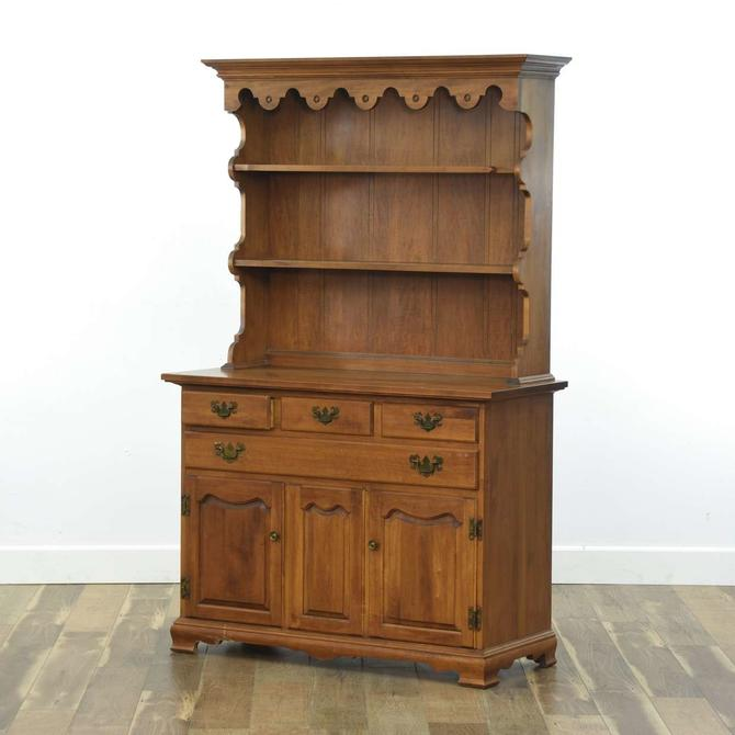 Tell City Chair Co. Maple Hutch Cabinet (2 Pieces)