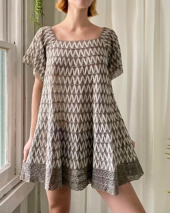 60s Tachi Castillo Lace Mini Dress