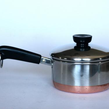 vintage revere ware 1 quart saucepan 1991 made in clinton illinois copper bottom by suesuegonzalas
