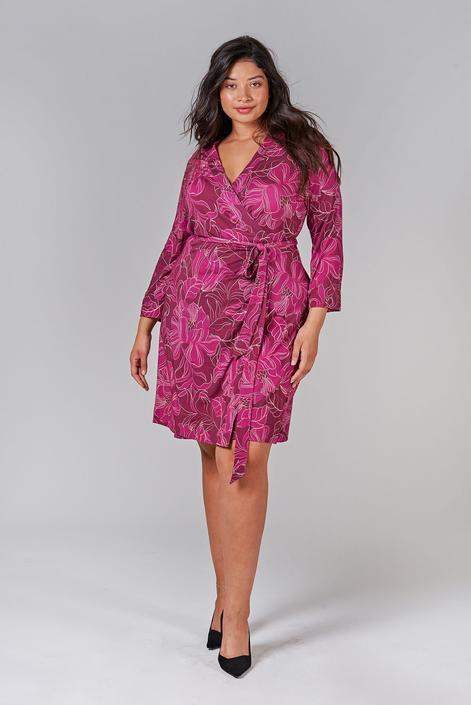 Rachel Wrap Dress | Plum Peony