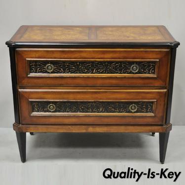 Baker Milling Road French Cherry Burlwood Commode Chest of Drawers Dresser