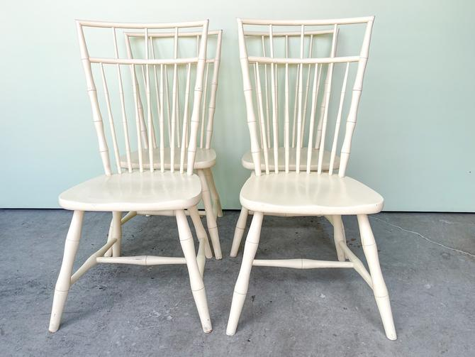 Set of Four Faux Bamboo Windsor Chairs