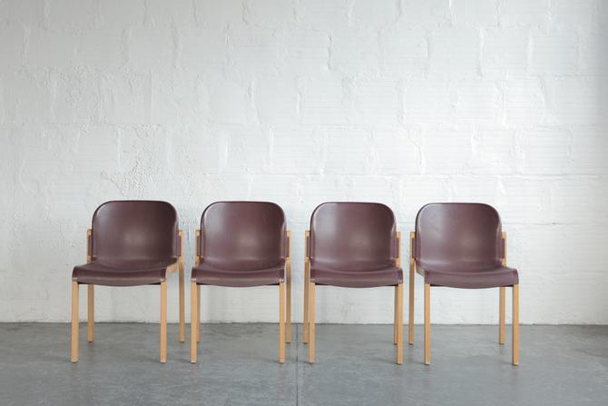 Stackable Bentwood + Plastic Thonet Chairs