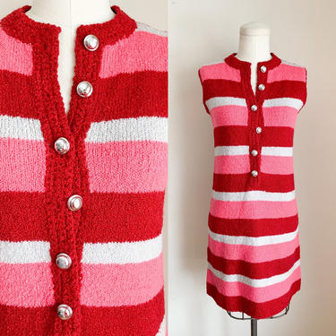 Vintage 1960s Wool Boucle Knit Sweater Dress / XS by MsTips