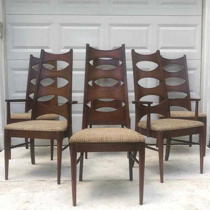 Mid-Century Modern Dining Room Chairs- Set of Six by secondhandstory
