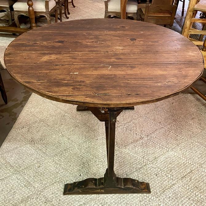 Antique French Provincial Tilt-Top Wine Tasting Table | Wine/Bar Décor
