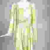 Louis Feraud Printed Citron Silk Chiffon Dress and Sheer Coat