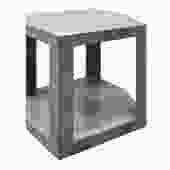 Karl Springer 2 Tier Hexagonal Side Table in Gray Cobra 1985 (Signed)