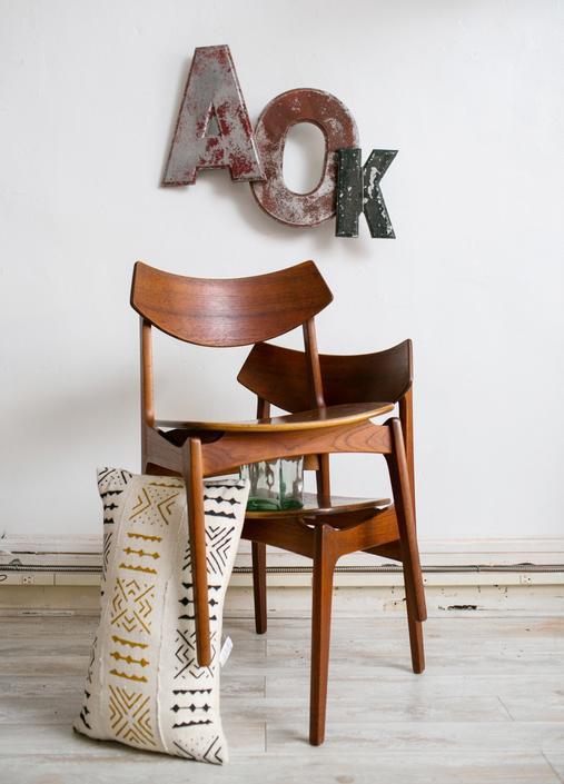 Erik Buck Mid-century modern Teak Chairs by Funden-Schmidt & Madsen