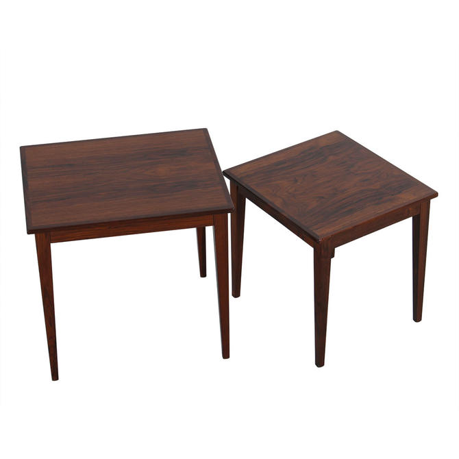 Pair of Danish Rosewood Nesting Tables