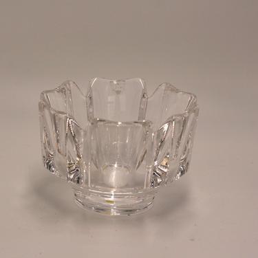 vintage Orrefors crystal corona bowl by Lars Hellsten by suesuegonzalas