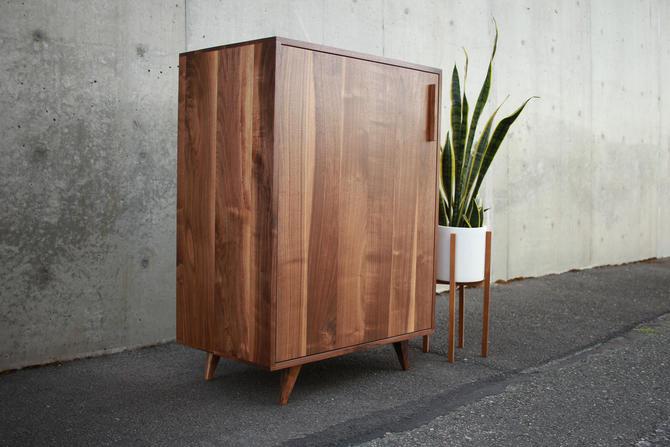 Floor Cabinet, Mid Century Modern, Mid Century, Media Console (Shown in Walnut) by TomfooleryWood