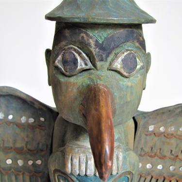 Vintage Pacific North West Totem Statue Art Carved by ArtloversFinds