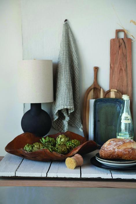 Teak Handcarved Bowl - FREE SHIPPING