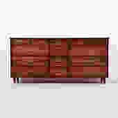 14 drawer solid walnut dresser