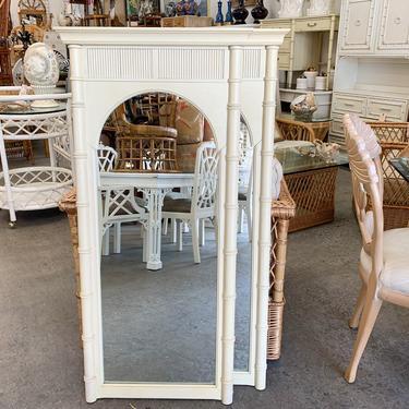 Pair of Faux Bamboo Pagoda Mirrors