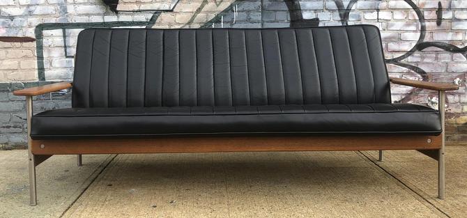 Midcentury Black Leather Sofa Sven Ivar Dysthe for Dokka Møbler Model 1001 by symmetryvintage
