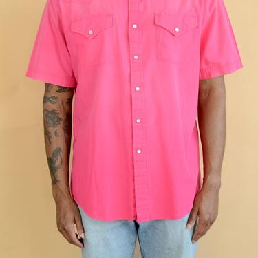 Vintage Pink Western Button Down Workwear Shirt XL Large by MAWSUPPLY