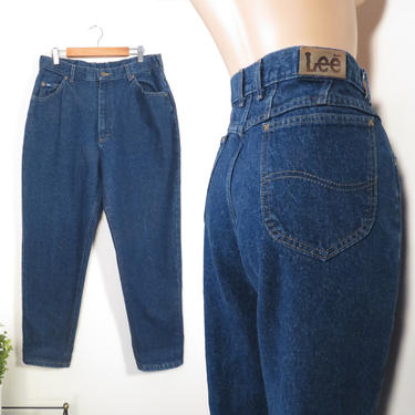 Vintage 80s/90s Lee Riders High Waist Tapered Leg Mom Jeans Made In USA Size 16 32 Waist by VelvetCastleVintage