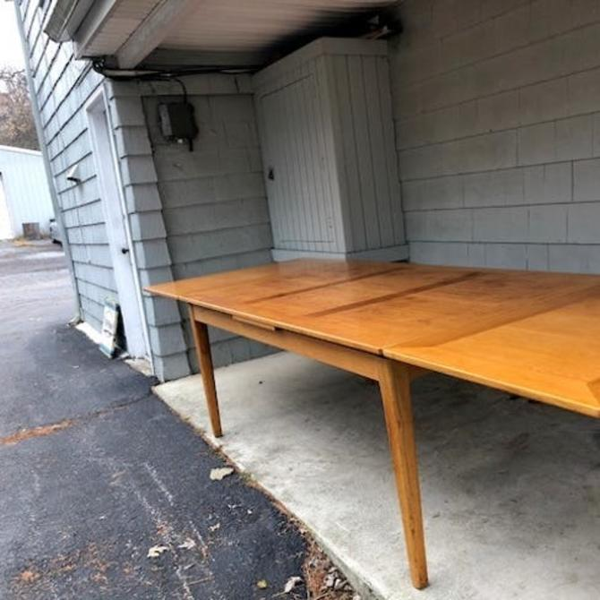 Large Scale Midcentury Draw Leaf Dining Table