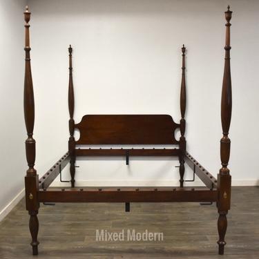 Henkel Harris Solid Mahogany Queen Bed by mixedmodern1