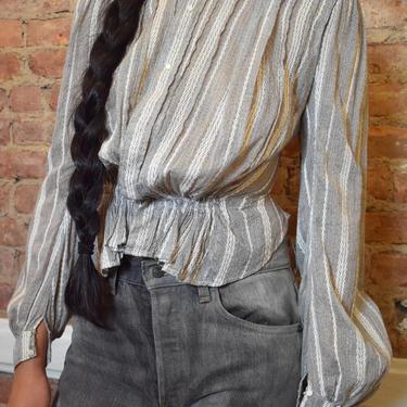 Striped Calico Blouse