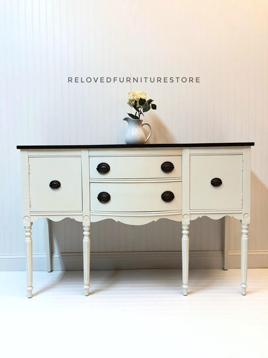 Refinished Buffet / Sideboard / TV stand / credenza by RelovedFurnitureStor