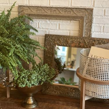 Woven Planter/Container with Wood Stand, multiple styles