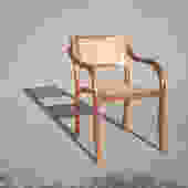 Teak Bentwood Chair with Caning