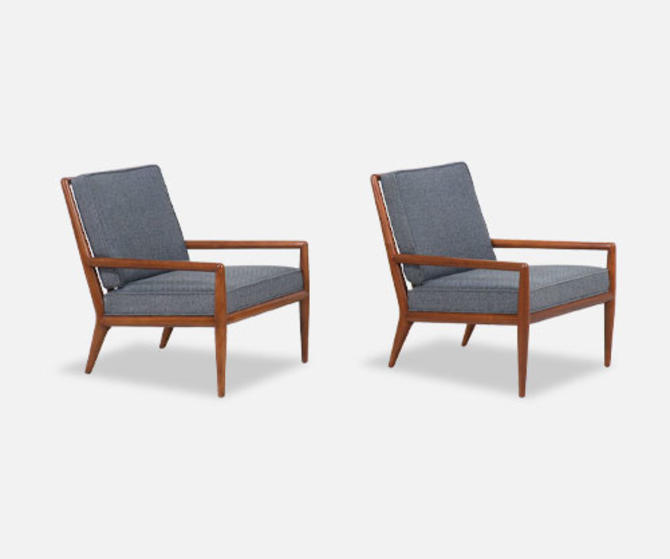 T.H. Robsjohn-Gibbings Lounge Chairs for Widdicomb