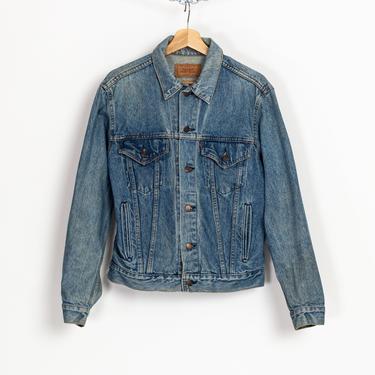 Vintage 80s Levi's Denim Jacket - Men's Medium, 42R | Unisex Medium Wash Jean Trucker Jacket by FlyingAppleVintage