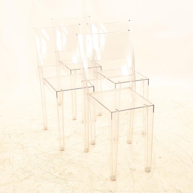 Philippe Starck for Kartell La Marie Mid Century Clear Acrylic Dining Chairs - Set of 4 by ModernHill