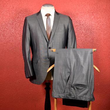 Very dapper 1960s Iridescent Gray Sharkskin Botany 500 Suit. by Cavemanteeks
