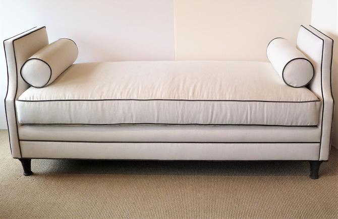 Modern Neoclassical Style Linen Sofa Daybed