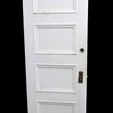 Antique Lamb's Club 4 Pane Wood Passage Door 83.5 x 29.625