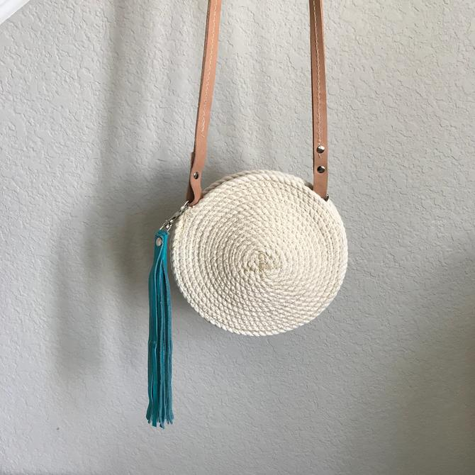Mini circle rope hip bag, circle crossbody bag by EastandMarket