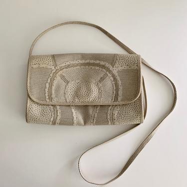 Carlos Falchi pressed leather patchwork envelope shoulder bag by MartinMercantile