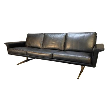Vintage Danish Mid Century Modern Leather Sofa Attributed to Georg Tham by AymerickModern