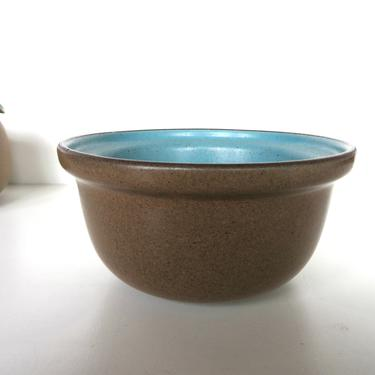 Heath Ceramics Small Bowl In Nutmeg and Turquoise, Edith Heath Coupe Bowl in Aqua and Brown by HerVintageCrush