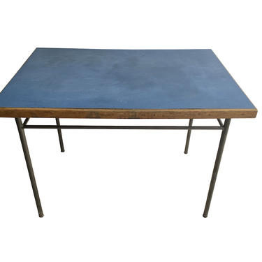 Blue Top Table, Style of Prouve, France, 1940's