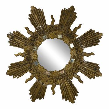 French Metal Starburst Mirror