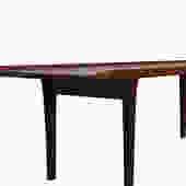 Danish Modern Teak Coffee Table w/ Raised Edges