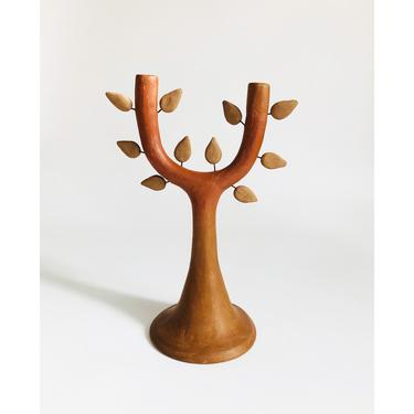 Vintage Mexican Folk Art Tree Candle Holder by SergeantSailor