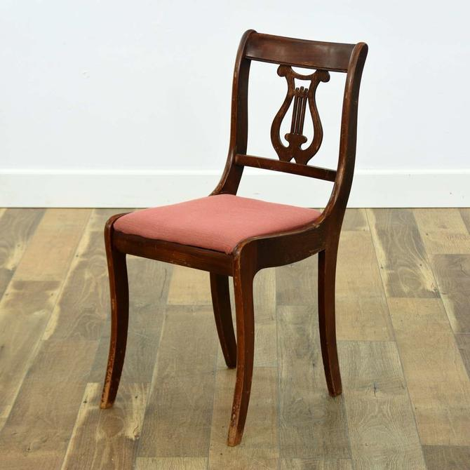 Empire Revival Lyre Back Accent Chair
