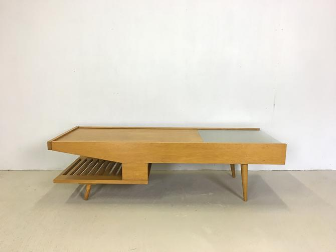 Brown Saltman Coffee Table by John Keal by retrocraftdesign