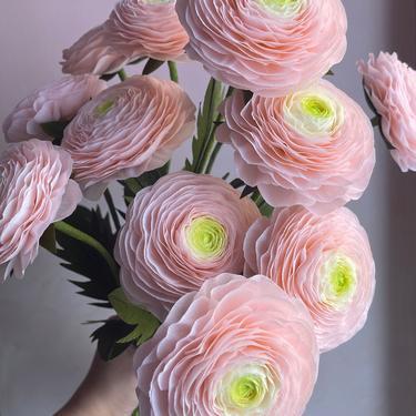 Crepe Paper Hanoi Ranunculus -- Paper Flowers for Home Decor or Weddings by ReveryPaperFlora