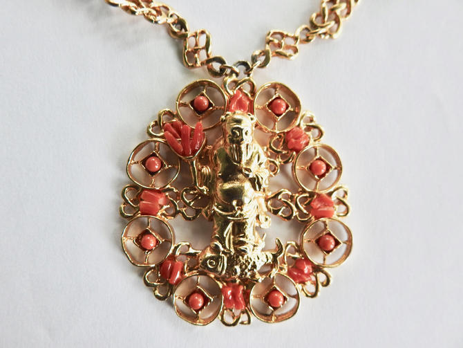 Buddha Necklace with Coral by LegendaryBeast